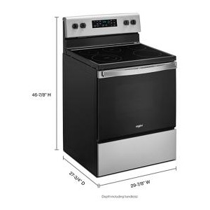 5.3 cu. ft. Whirlpool® electric range with Frozen Bake™ technology .