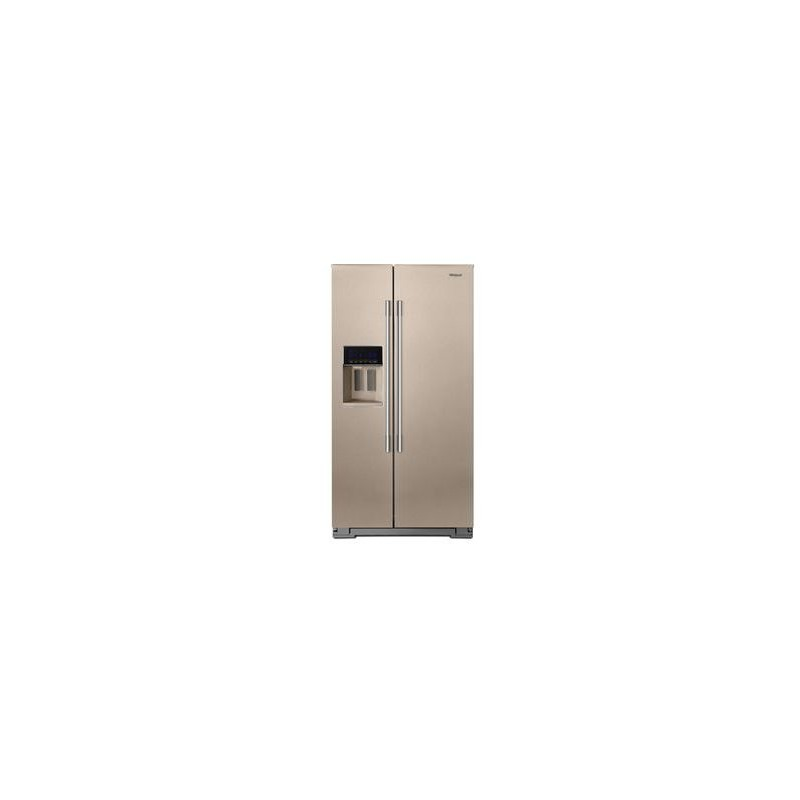 36 Inch Wide Contemporary Handle Counter Depth Side By Refrigerator 21 Cu Ft