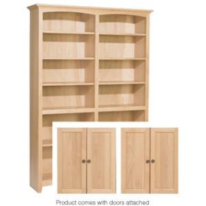 72x48 McKenzie Alder Bookcase with Doors