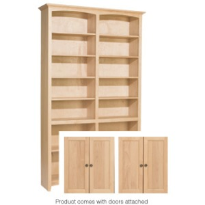 84x48 McKenzie Alder Bookcase with Doors