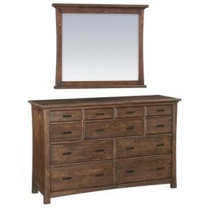 Drawer Prairie City 11‑Drawer Dresser & Mirror