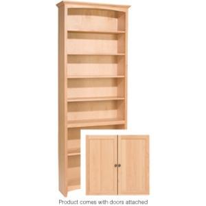 84x30 McKenzie Alder Bookcase w/Doors