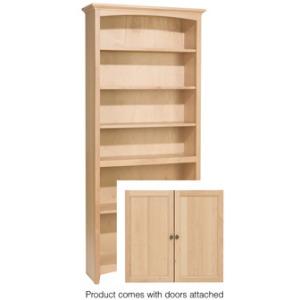 72x30 McKenzie Alder Bookcase w/doors