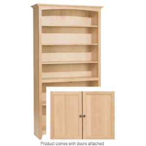 72x36 McKenzie Alder Bookcase with Doors