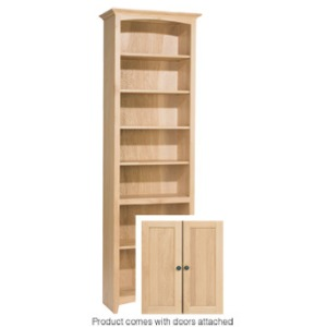 84x24 McKenzie Alder Bookcase with Doors