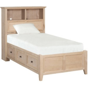 McKenzie Twin Bookcase Storage Bed