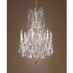 Silver And Crystal Chandelier