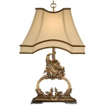 Gilt Flourish Lamp