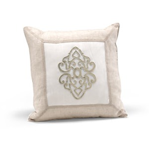Platinum Center Medallion Pillow