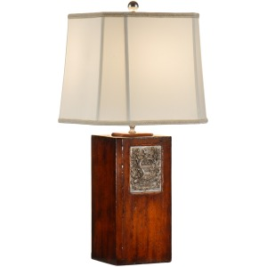 Georges Pewter Bookplate Lamp