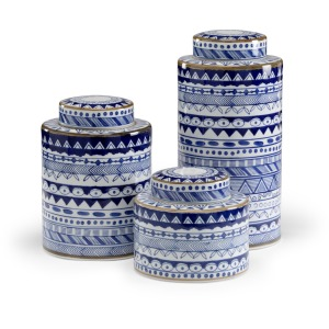 Blue & White Canisters - Set of 3