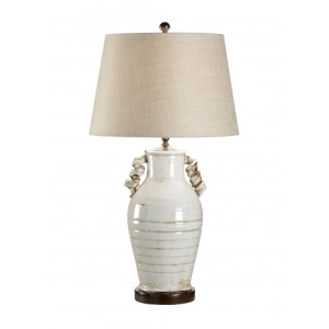 Curly Cue Handled Vase Lamp