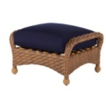 Carolina Wicker Ottoman