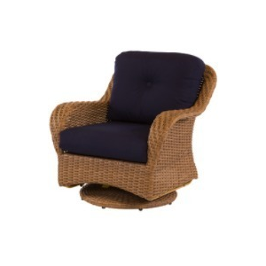 Carolina Wicker Swivel Lounge Chair