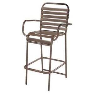 Country Club Strap Bar Chair with Arms