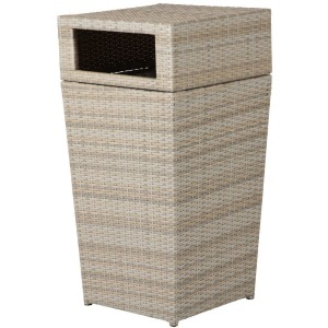 Oxford Wicker Trash Receptacle