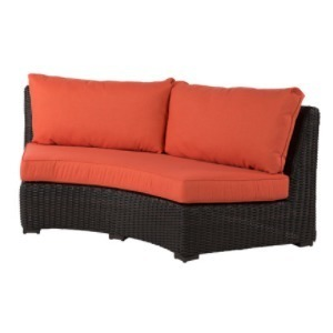 Dakota Wicker Crescent Loveseat