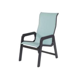 Mailbu Sling High Back Dining Arm Chair