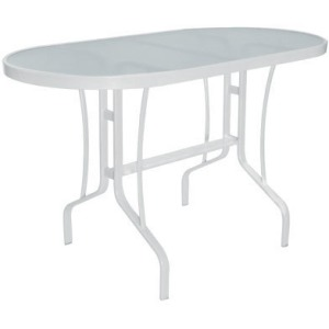 """Glass Top 30"""" x 60"""" Oval Balcony Dining Table"""