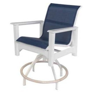 Cape Cod Sling Swivel Balcony Chair