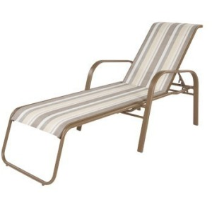Anna Maria Sling Chaise Lounge with Arms
