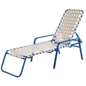 Regatta Strap Chaise Lounge - Cross Weave