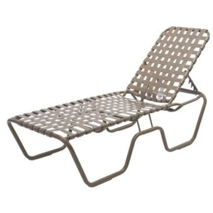 "Neptune Strap Armless Chaise 18"" High - Cross Weave"