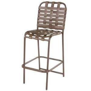 Country Club Strap Armless Bar Chair - Cross Weave
