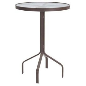 """Glass Top 30"""" Round Bar Dining Table"""