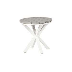 "Tahoe Plank Poly 20"" Round Side Table"