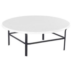 "Faux Stone Top 36"" Round Conversation Table"