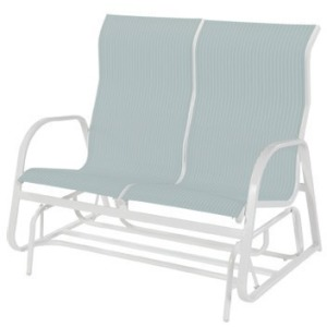 Ocean Breeze Sling High Back Loveseat Glider