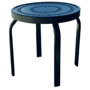 "Napa Punched Aluminum 18"" Round Stackable Side Table"