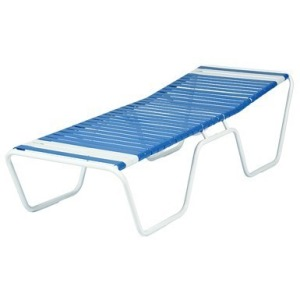 Country Club Strap Armless Sun Cot Chaise Lounge
