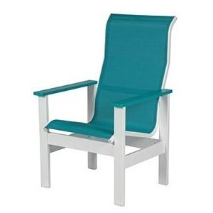 Kingston Sling High Back Dining Arm Chair
