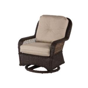 Hannah Wicker Lounge Chair Swivel Glider