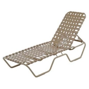 Country Club Strap Armless Chaise Lounge - Cross Weave