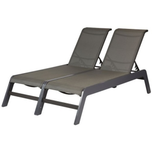 Mailbu Sling Armless Double Chaise Lounge