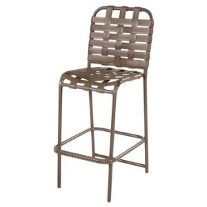 Neptune Strap Armless Bar Chair, Cross Weave