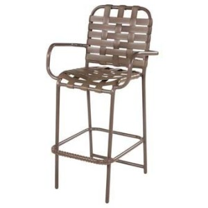 Country Club Strap Bar Chair with Arms - Cross Weave