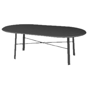 "Newport MGP 22"" x 44"" Oval Coffee Table"
