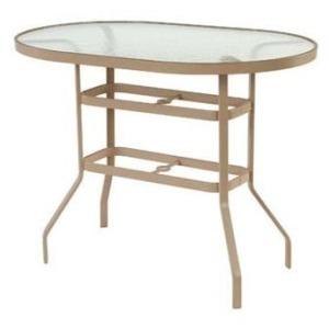 "Glass Top 36"" x 54"" Oval Balcony Table"