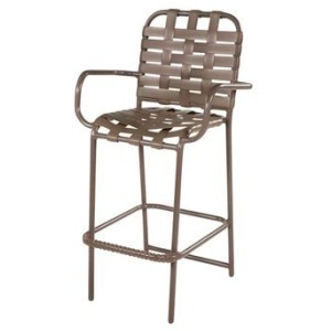 Neptune Strap Bar Chair with Arms - Cross Weave