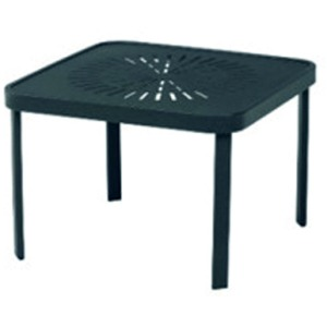 "Mayan Punched Aluminum 24"" Square Stackable Side Table"