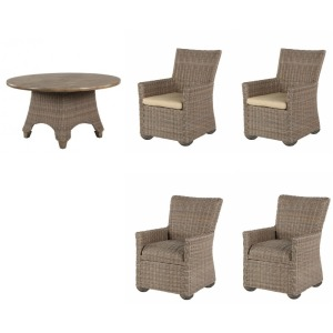 Oxford 5PC Outdoor Dining Set