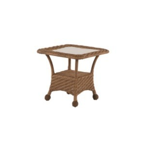 "Carolina Wicker 24"" Square Side Table"