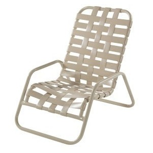 Neptune Strap Sand Chair, Cross Weave