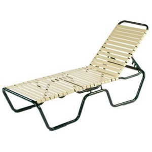 Neptune Strap Armless Chaise Lounge