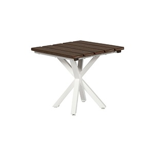 """Tahoe Plank Poly 19"""" Square Side Table"""