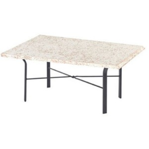 "Faux Stone Top 22"" x 34"" Rectangular Coffee Table"